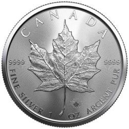 2021 Canada Silver Maple Leaf 1 Oz Silver Coin