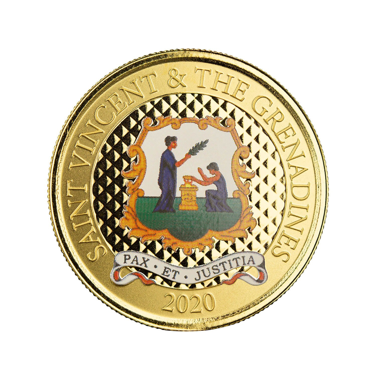 "2020 Ec8 St Vincent & The Grenadines ""pax Et Justitia"" 1 Oz Gold Color Coin (copy)"