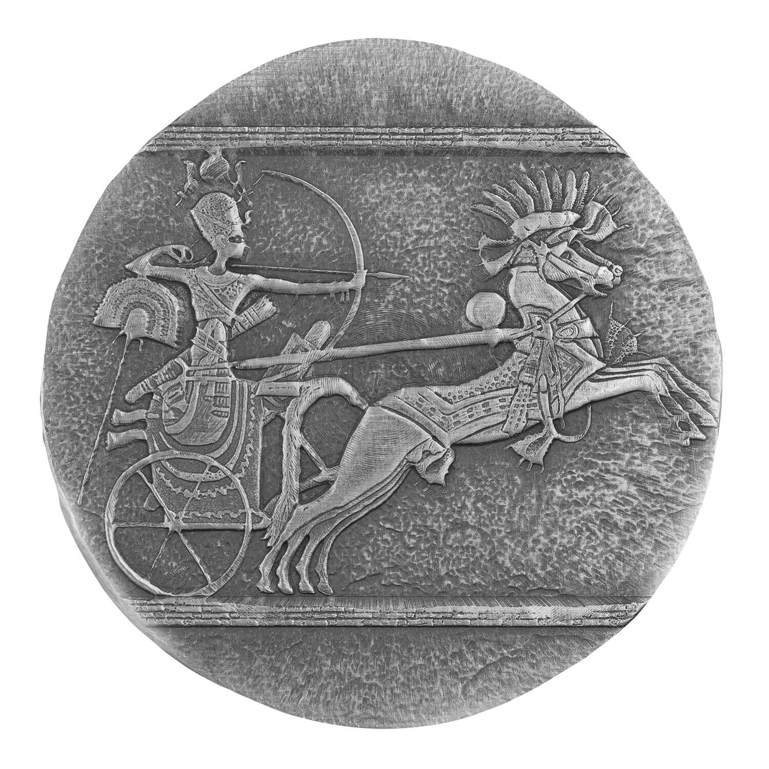 2020 Ers Chariot Race 5 Oz Antiqued Silver Coin