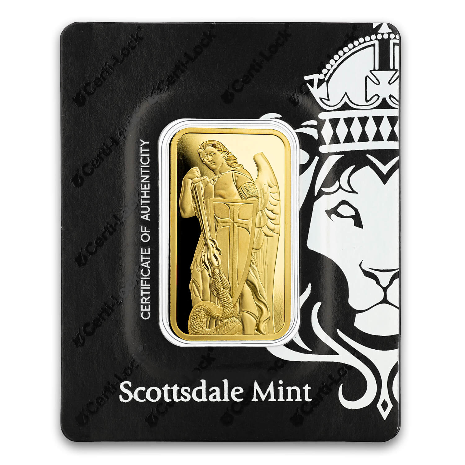 Archangel Michael 1 Oz .9999 Gold Bar